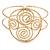 Greek Style Twirl Upper Arm, Armlet Bracelet In Hammered Gold Plating - Adjustable - view 5