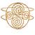 Greek Style Twirl Upper Arm, Armlet Bracelet In Hammered Gold Plating - Adjustable - view 6
