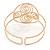Greek Style Twirl Upper Arm, Armlet Bracelet In Hammered Gold Plating - Adjustable - view 2