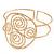 Greek Style Twirl Upper Arm, Armlet Bracelet In Hammered Gold Plating - Adjustable - view 7