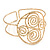 Greek Style Twirl Upper Arm, Armlet Bracelet In Hammered Gold Plating - Adjustable - view 4