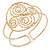 Greek Style Twirl Upper Arm, Armlet Bracelet In Hammered Gold Plating - Adjustable - view 3