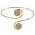 Gold Plated Clear Austrian Crystal Disk Upper Arm/ Armlet Bracelet - 28cm L Adjustable
