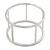 Matte Silver Tone Round Frame Slip On Bangle Bracelet - 19cm L - view 7