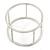 Matte Silver Tone Round Frame Slip On Bangle Bracelet - 19cm L - view 5