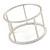 Matte Silver Tone Round Frame Slip On Bangle Bracelet - 19cm L - view 6