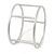 Matte Silver Tone Round Frame Slip On Bangle Bracelet - 19cm L - view 4