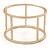 Matte Gold Tone Round Frame Slip On Bangle Bracelet - 19cm L