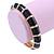 Black Enamel Hinged Bangle Bracelet In Gold Plating - 19cm L - view 3