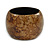Chunky Brown Marbled Effect Wood Bangle Bracelet - Medium - up to 18cm L