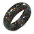 Black Resin with Mosaic Effect Bangle Bracelet - Medium - 17cm L