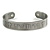 Men Celtic Pattern 'Faith' Pewter-Plated Copper Magnetic Cuff Bracelet with Two Magnets - Adjustable Size - 7½