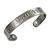 Men Celtic Pattern 'Faith' Pewter-Plated Copper Magnetic Cuff Bracelet with Two Magnets - Adjustable Size - 7½ - view 2