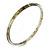 Thin Beige/ Olive Glitter Pattern Acrylic Bangle Bracelet - 19cm L
