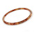 Thin Nude/ Beige with Glitter Effect Acrylic Bangle Bracelet - 19cm L - view 2