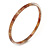 Thin Nude/ Beige with Glitter Effect Acrylic Bangle Bracelet - 19cm L