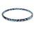 Thin Blue with Glitter Effect Acrylic Bangle Bracelet - 19cm L