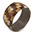 Brown/ Beige Coco Shell Mosaic Bangle Bracelet - 18cm L
