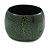 Wide Chunky Cracked Effect Wood Bracelet Bangle (Green/ Black) - Medium - 19cm L
