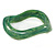 Curvy Green with Marble Effect Resin Bangle Bracelet - 18cm L