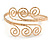 Greek Style Twirl Hammered Upper Arm, Armlet Bracelet In Gold Plating - Adjustable - view 4