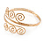 Greek Style Twirl Hammered Upper Arm, Armlet Bracelet In Gold Plating - Adjustable - view 6