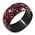 Pink/ Black Wood Bangle Bracelet - Medium - up to 18cm L
