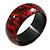 Red/ Black Wood Bangle Bracelet - Medium - up to 18cm L