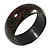 Dark Brown/ Black Wood Bangle Bracelet - Medium - up to 18cm L