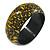 Yellow/ Black Wood Bangle Bracelet - Medium - up to 18cm L