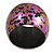 Chunky Wooden Bangle Bracelet in Pink/ Gold/ Black - view 8