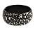 Black/ White Wood Bangle Bracelet - view 4