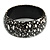 Black/ White Wood Bangle Bracelet - view 6