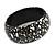 Black/ White Wood Bangle Bracelet - view 5