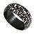 Black/ White Wood Bangle Bracelet - view 7