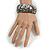 Black/ White Wood Bangle Bracelet - view 2