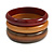 Set of 3 Wooden Bangles In Brown/ Brown Red(Possible Natural Irregularities)