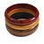 Set of 3 Wooden Bangles In Brown/ Brown Red(Possible Natural Irregularities) - view 4