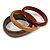 Set of 3 Wooden Bangles In Brown/ Brown Red(Possible Natural Irregularities) - view 2