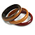 Set of 3 Wooden Bangles In Brown/ Brown Red(Possible Natural Irregularities) - view 5