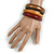 Set of 3 Wooden Bangles In Brown/ Brown Red(Possible Natural Irregularities) - view 3