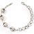 Silver Tone Crystal Kiss Bracelet - view 2