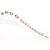 Silver Tone Crystal Kiss Bracelet - view 3