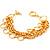 5-Strand Gold Tone Bracelet