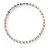 Thin Clear Crystal Flex Bracelet In Silver Plating - up to 17cm length - view 2