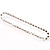 Thin Clear Crystal Flex Bracelet In Silver Plating - up to 17cm length - view 3