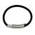 Black Rubberized Magnetic Costume Bracelet