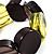 Multicoloured Stretch Resin Bracelet (Lemon, Brown & Black) - view 5