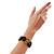Multicoloured Stretch Resin Bracelet (Lemon, Brown & Black) - view 6