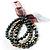 3 Strand Lustrous Faux-Pearl Flex Bracelet Set (Bronze, Coffee & Gray)